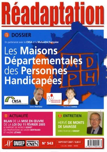 ONISEP - Réadaptation N° 543, Septembre-Oc : Les maisons départementales des personnes handicapées.