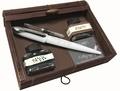 ONLINE - Set de Calligraphie plume corps blanc + 2 flacons d encre en coffret bambou