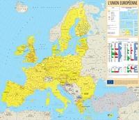 OPOCE - Carte géographique - L'Union européenne - Echelle 1:4740000, nouvelle version plastifiée en français.