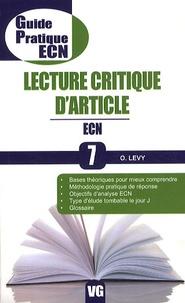 Ora Levy - Lecture critique d'article - ECN.
