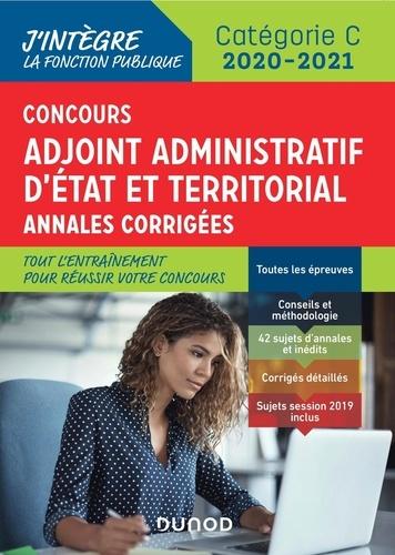 Concours Adjoint administratif Etat & Territorial Catégorie C  : Annales corrigées