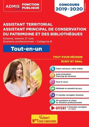 Assistant territorial, assistant principal de conservation du patrimoine et des bibliothèques  : tout-en-un