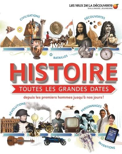 Histoire, toutes les grandes dates  : personnages, batailles, révolutions, découvertes ou inventions depuis les premiers hommes jusqu'à nos jours !