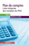 Ordre des Experts-Comptables - Plan de comptes 2012 - Liste intégrale des comptes du PCG.