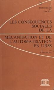 Organisation des Nations Unies et Anatolii Alekseevitch Zvorikin - Les conséquences sociales de la mécanisation et de l'automatisation en URSS.