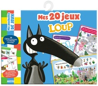 Orianne Lallemand et Eléonore Thuillier - Mes 20 jeux Loup - Avec 10 cartes plastifiées et 1 feutre effaçable.
