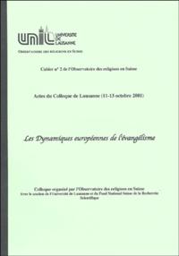 ORS - Les dynamiques européennes de l'évangélisme.