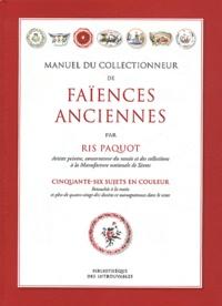 Manuel du collectionneur de faïences anciennes - Cinquante-six sujets en couleur.pdf
