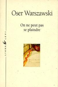 Oser Warszawski - .