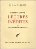 Oskar Wladyslaw de Lubicz Milosz - Soixante-quinze lettres inédites - Et sept documents originaux.