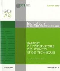 Indicateurs de sciences et de technologies- Rapport de l'Observatoire des sciences et des techniques -  OST |