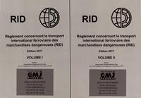 OTIF - Règlement concernant le transport international ferroviaire des marchandises dangereuses (RID) - 2 volumes.