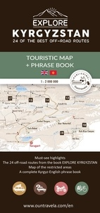 Olivia Casari et Victor Michaud - Touristic map of Kyrgyzstan - With a Kyrgyz-English phrase book.