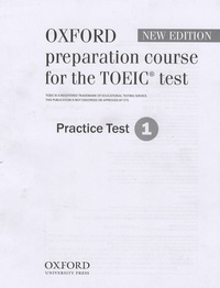 Oxford - Oxford preparation course for the TOEIC test - Practice Test 1.