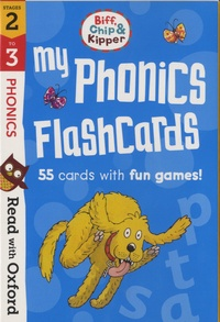 Laura Sharp et Annemarie Young - My phonics flashcards stages 2 to 3 - 55 cards with fun games.