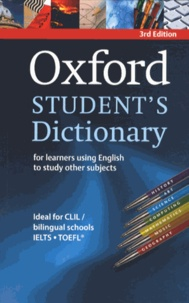 Oxford University Press - Oxford student's dictionary - For learners using english to study other subjects.