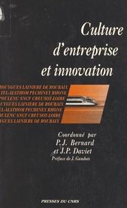 P Bernard - Culture d'entreprise et innovation.