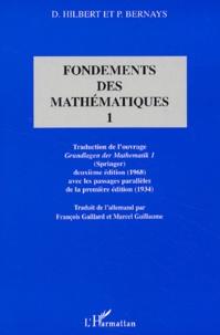 Deedr.fr Fondements des mathématiques. Tome 1 Image