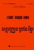 P-S Dhammarama - Lexique français-khmer.