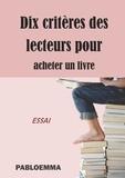 Pabloemma - Dix critères des lecteurs pour acheter un livre.
