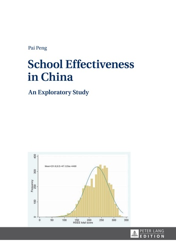 Pai Peng - School Effectiveness in China - An Exploratory Study.