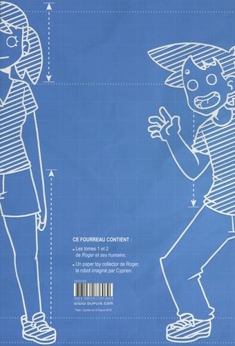 Roger et ses humains  Coffret en 2 volumes : Tome 1 ; Tome 2. Avec un papertoy collector Roger