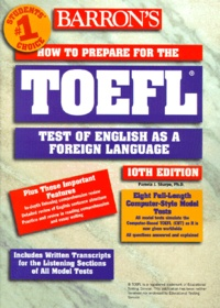 Pamela-J Sharpe - How to prepare for the TOEFL 10th edition livre seul.