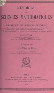 Panajiotis Zervos et  Académie des sciences de Paris - Le problème de Monge.