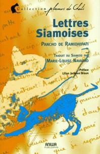 Pancho de Ramidhipati - Lettres siamoises - Comment peut-on être persan ?.