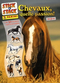 Panini - Chevaux, quelle passion ! - + de 30 stickers repositionnables.