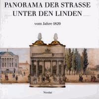 Panorama der Straße Unter den Linden vom Jahre 1820.