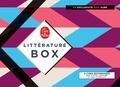 Paolo Cognetti et Olivier Guez - Littérature Box - Coffret en 3 volumes : Les huit montagnes ; La disparition de Josef Mengele ;  Looping. Avec 1 marque-page, un bloc de feuilles, 1 sachet de thé.