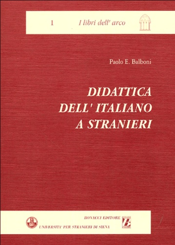 Paolo Ernesto Balboni - Didattica dell'italiano a stranieri.