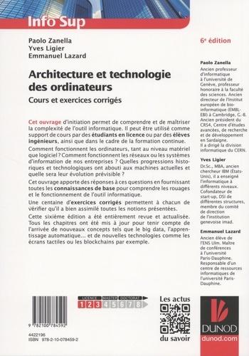 Architecture et technologie des ordinateurs. Cours et exercices corrigés 6e édition