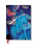 PAPERBLANKS - Carnet Chats 13x18 Bleus et papillons ligné