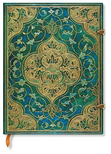 PAPERBLANKS - Carnet Chroniques Turquoise 18x23 ligné