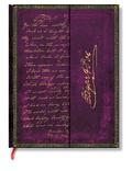 PAPERBLANKS - Carnet Les Manuscrits 18x23 Poe ligné