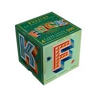 Papier cadeau - Puzzle Fuck - 4 casse-têtes lettres.