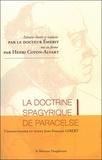 Paracelse - La doctrine spagyrique de Paracelse, extraits choisis et traduits par le Dr Emerit, mis en forme par Henri Coton-Alvart.