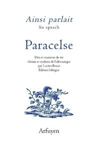 Paracelse - Paracelse - Edition bilingue alémanique - français.