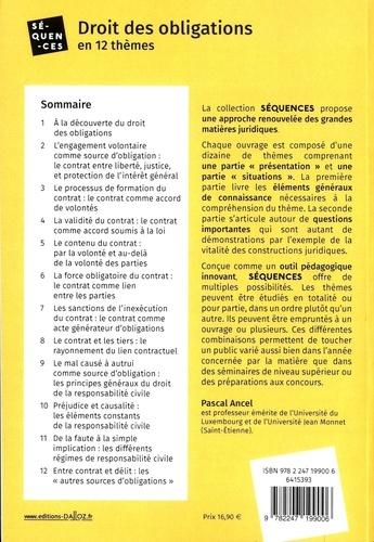 Droit des obligations. En 12 thèmes. Avec exemples détaillés  Edition 2020