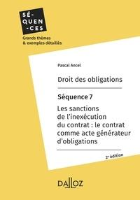 Pascal Ancel - Droit des obligations. Séquence 7 - Les sanctions de l'inexécution du contrat.