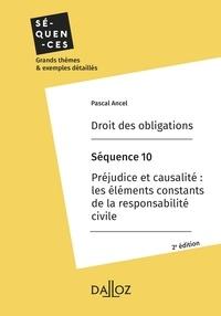 Pascal Ancel - Droit des obligations. Séquence 10 - Préjudice et causalité.