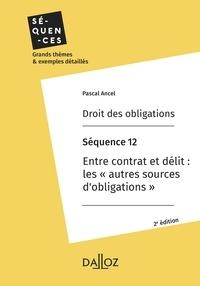 Pascal Ancel - Droit des obligations. Séquence 12 - Entre contrat et délit : les «autres sources d'obligations».
