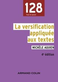 Pascal Aquien - La versification appliquée aux textes - 4e édition.