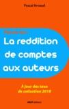 Pascal Arnaud - La reddition de comptes aux auteurs.