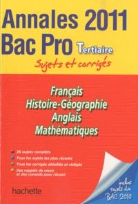 Pascal Asmussen et Cécile Blanger - Annales Bac Pro Tertiaire 2011 - Sujets et corrigés.