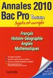 Pascal Asmussen - Annales Bac Pro Tertiaire Sujets et corrigés 2010.