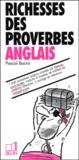 Pascal Bacro - Richesses des proverbes anglais.