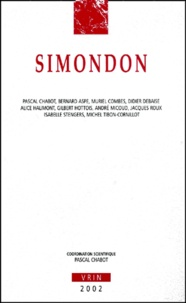 Pascal Chabot et  Collectif - Simondon.